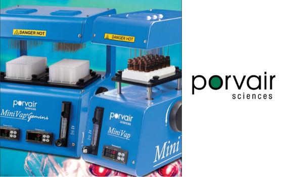MiniVap® Nitrogen Blowdown evaporator from Porvair Sciences