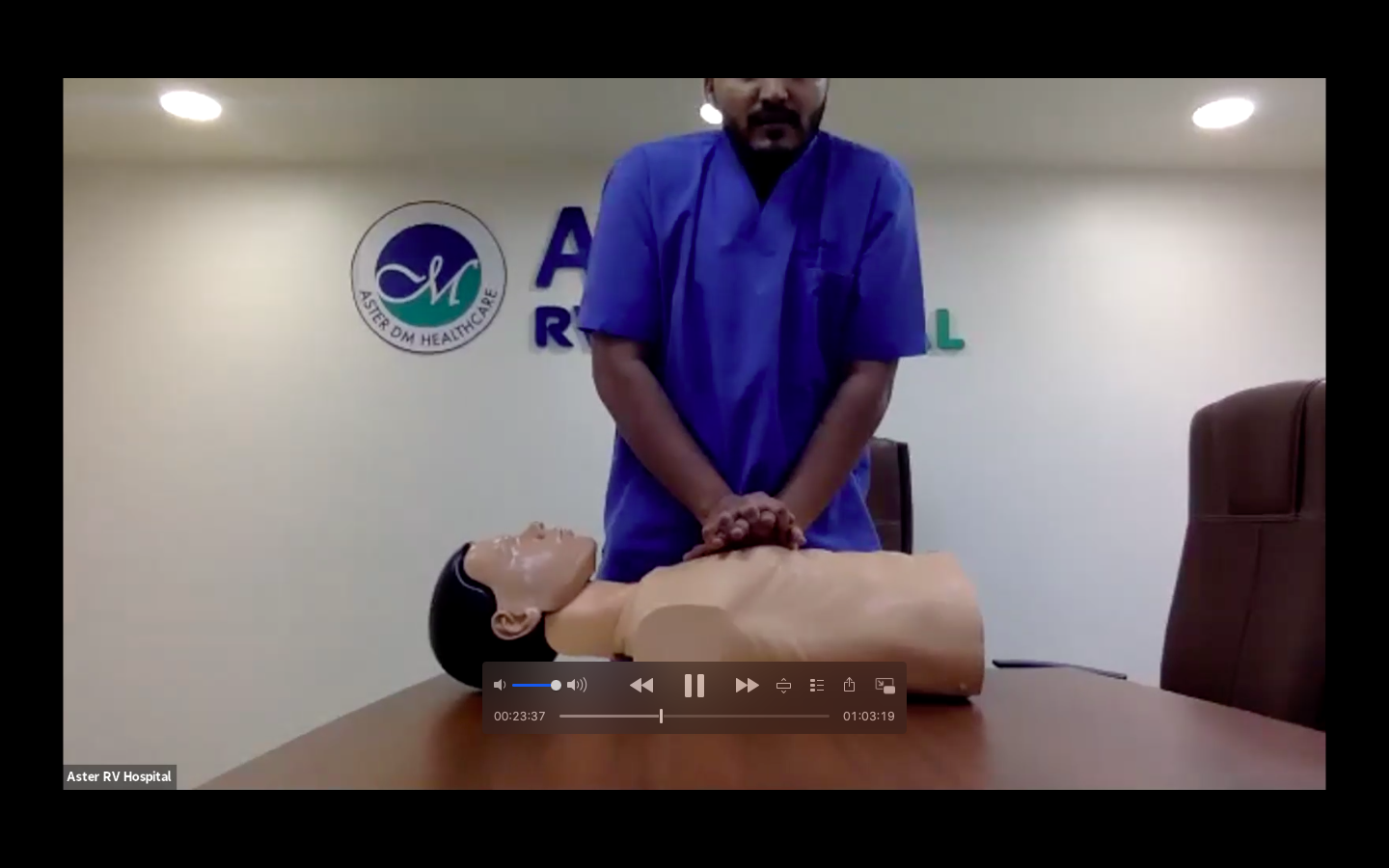 Aster RV Hospital gives Basic Life Support aptitudes practically