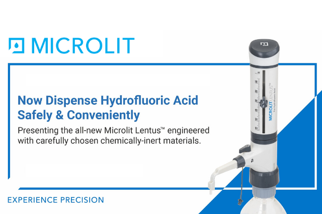 Experience the power of precision and safety in Hydrofluoric Acid dispensing with the newly launched MICROLIT LENTUS™