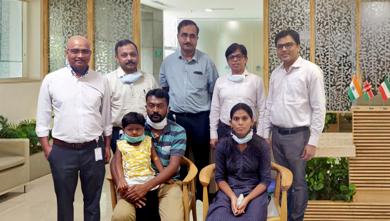 Aster CMI doctors revive 5-yr-old child from a 40-minute-long cardiac arrest during a liver transplant