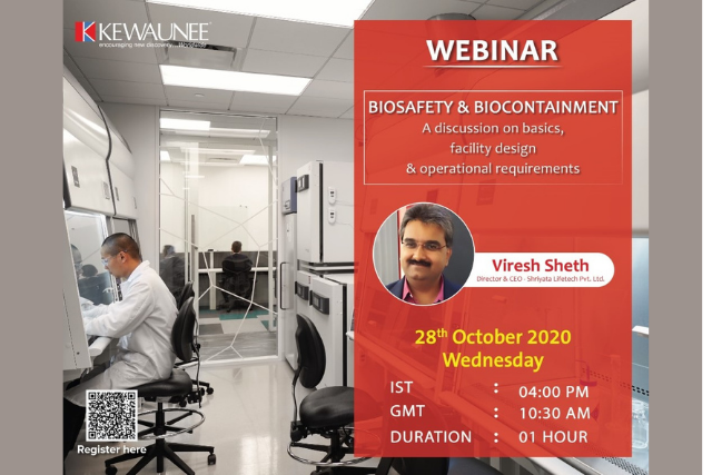 Kewaunee Scientific Free Webinar on Biosafety & Biocontainment