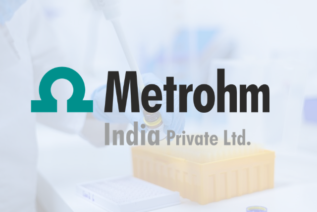 "Metrohm India announces webinar on ""Customized Solutions for Pharmaceutical Analysis from Metrohm"""