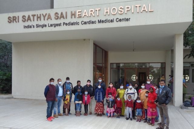 Sathya Sai Hospital leased a new life to Indore's nine months old Bhagyashree