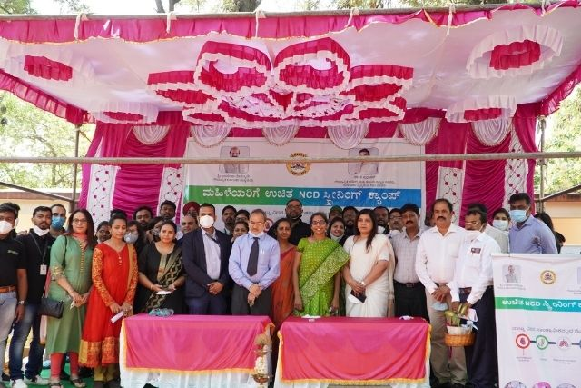 HealthCube and Karkinos Healthcare rolled out cancer screening camp for women in Chikkaballapur